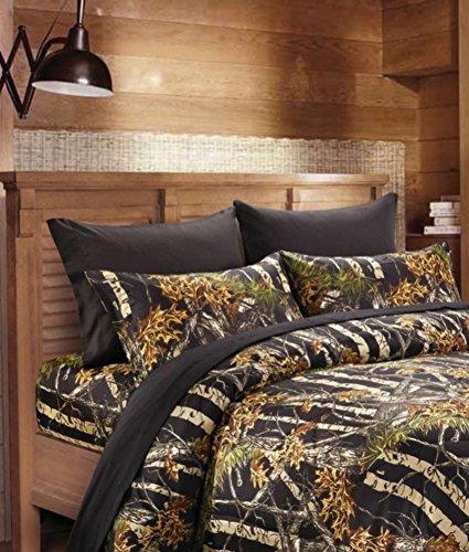 20 Lakes Camouflage Woodland Style Luxurios Microfiber Sheet & Pillowcase Set by 20 Lakes (Image #1)