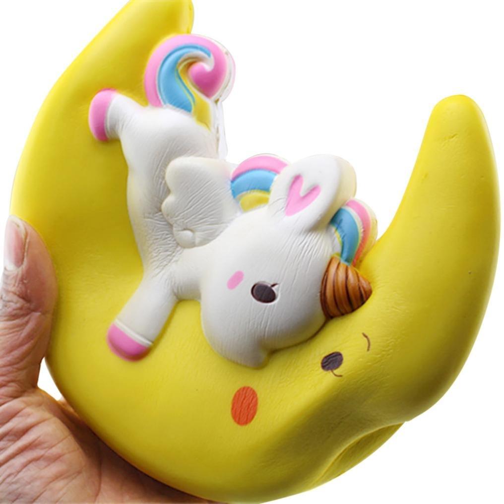 Dedoito - Juguetes de descompresión para luna con aroma a unicornio, color crema súper lenta: Amazon.es: Juguetes y juegos