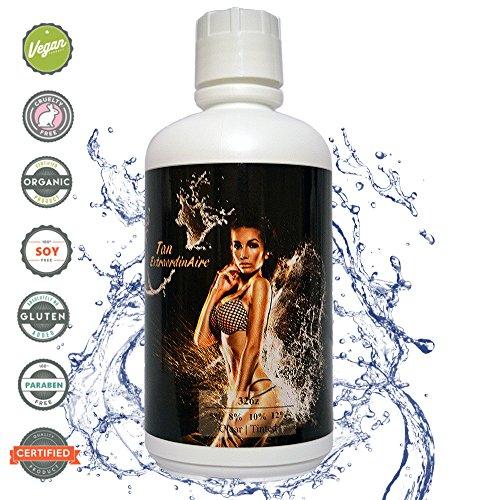 Tan Extraordinaire 12  Dark Skin Type  Clear  No Brown Tint  Dark Dha Sunless Spray Tanning Solution 32 Oz  1Qt