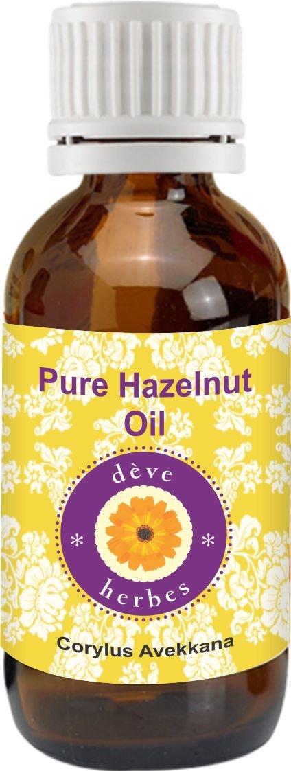 dève herbes Pure Hazelnut Oil (Corylus avellana) 100% Natural Cold presssed & Therapeutic Grade (1250ml)