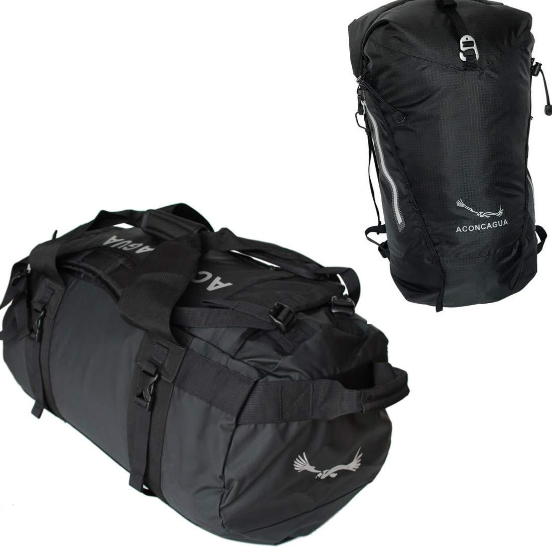 アコンカグア 選べるバッグ2点セット Tigre(ティグレ)と小さいリュック  ブラック防水 B07QMSNBPW