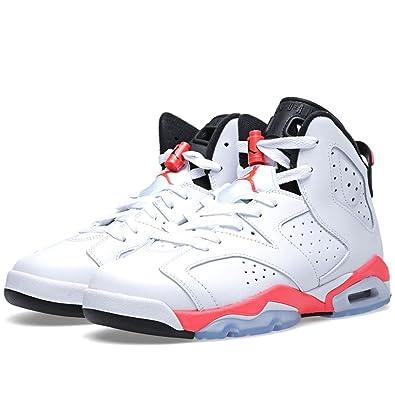 3149be455bda Nike BG (GS) Air Jordan 6 Retro  White Infrared  White Infrared ...