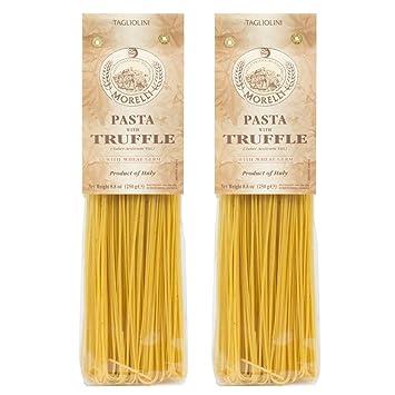 Morelli Italian Pasta Truffle Tagliolini Wheat Germ, Tagliolini Tartufo,  100% Handmade In Italy All Natural 8 8