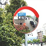 MIRROR Outdoor Traffic Wide-Angle Lens,Blind Mirror Monitoring Security Road Safety Off-Road Garage Curved Junction Panoramic Mirror Turning Traffic Safety Convex Mirror,100cm