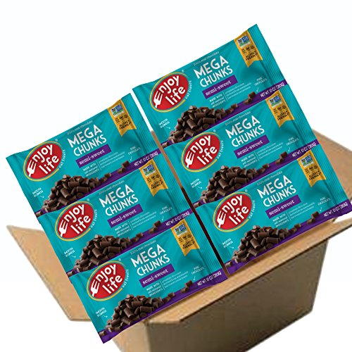 - Enjoy Life Semi Sweet, Dairy Free, Vegan Mega Chunk Chocolate Chips, 10 Ounce Bags, 6 CT