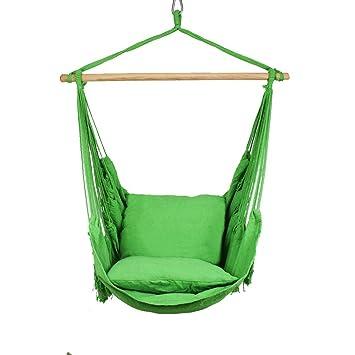 Sessel Stuhl Hangematte Zum Aufhangen Sitze Garten Mit Zwei Kissen