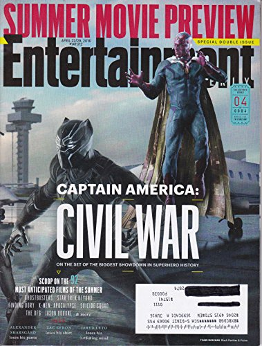 Entertainment Weekly April 22/29, 2016 Captain America: Civil War Cover 4 Team Ironman: Black Panther & Vision (Outbound Trading Co compare prices)