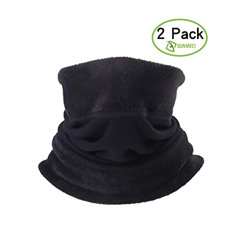 ef02693db07 SUNMECI Neck Gaiter Warmer- Windproof and Elastic Fleece Cold Weather Face  Scarf Perfect Performance in