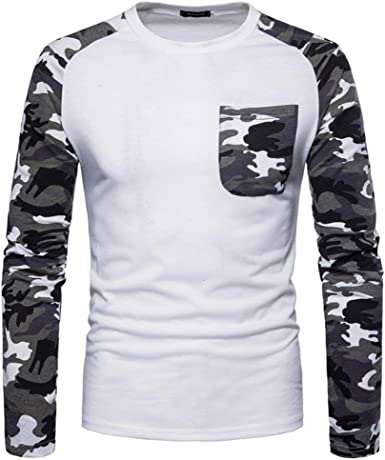 Camisa Básica De Manga Larga De Camuflaje De Los Ocio Camiseta Sudaderas Hombres De Especial Estilo Manga Larga con Cremallera Sport Outwear Jersey: Amazon.es: Ropa y accesorios