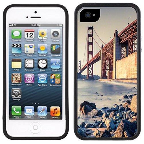 Golden Gate Bridge | Handgefertigt | iPhone 5 5s | Schwarze Hülle