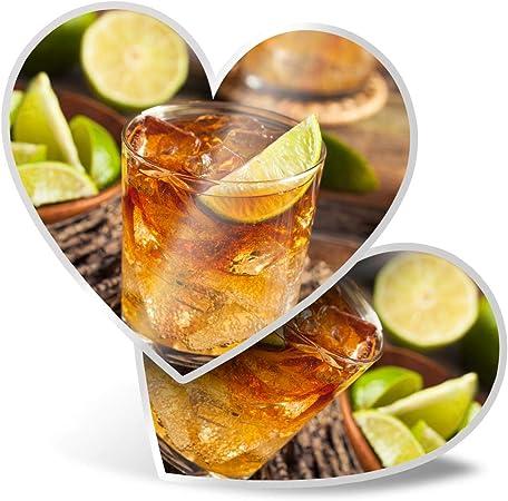 Impresionante 2 pegatinas de corazón de 7,5 cm – Ron Cocktail ...