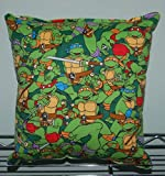 "Teen Age Mutant Ninja Turtle Pillow TMNT Pillow HANDMADE In USA Pillow is approximately 10"" X 11"