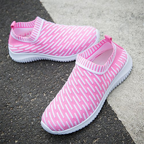 on Slip Athletic Pink Casual Breathable Lightweight Fashion Sneakers YALOX 1 Women's Walking Shoes Shoes nqWw4AF4