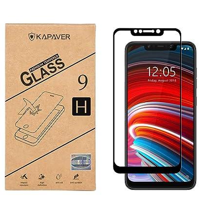 KAPAVER® Xiaomi Poco F1 5D Full Cover Edge to Edge Full Glue Tempered Glass  Screen Guard Protector (Xiaomi Poco F1/Poco f1)