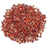 red quartz - SUNYIK Red Jasper Tumbled Chips Stone Crushed Crystal Quartz Pieces Irregular Shaped Stones 1pound(about 460 gram)