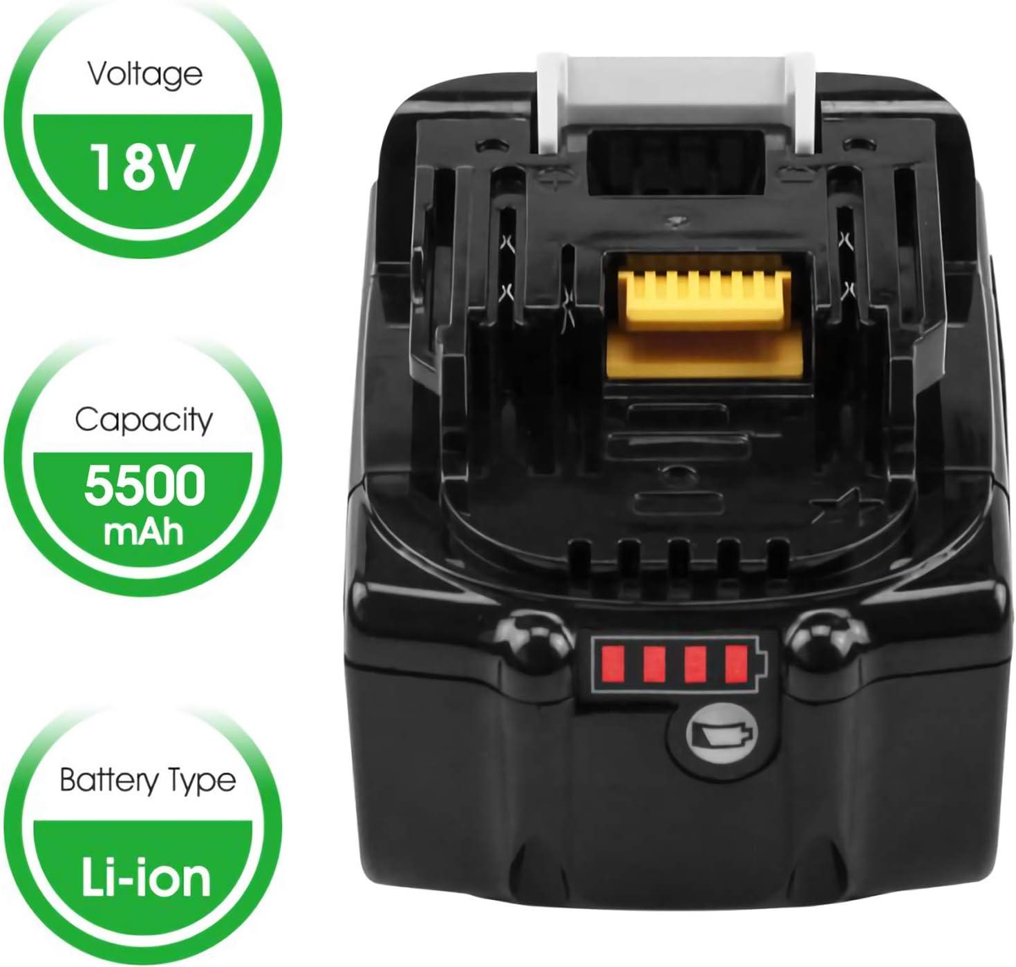 Hochstern BL1860B remplacement pour batterie Makita 18 V BL1860 BL1850B BL1850 BL1840B BL1840 BL1830B BL1830 BL1820 LXT-400 avec indicateurs LED