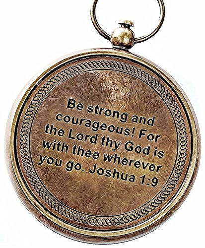 God is My Guide Compass with Display Stand Unique | Uplifting | Heavenly Gift of Faith. The Perfect Baptism Gift, Missionary, Birthday, or Confirmation Gift