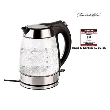 Amazon.de: Rosenstein & Söhne Glas Wasserkocher: Wasserkocher mit ...