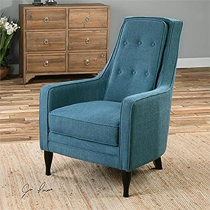 Sensational Amazon Com Uttermost Katana Archair Peacock Blue Accent Dailytribune Chair Design For Home Dailytribuneorg
