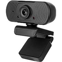 Webcam USB Câmera Web de alta definição 1080P Microfone embutido com base de encaixe USB2.0 Web Cam para computador…