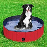 dabble board game - Yaheetech Red Foldable Pet Pool,Suitable for Dogs,Cats or Other Pets to Swim and Bath in Outdoor - M: 47.2 x 11.8''