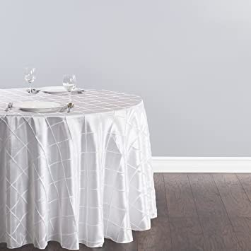 LinenTablecloth Round Pintuck Tablecloth, 108u0026quot;, ...