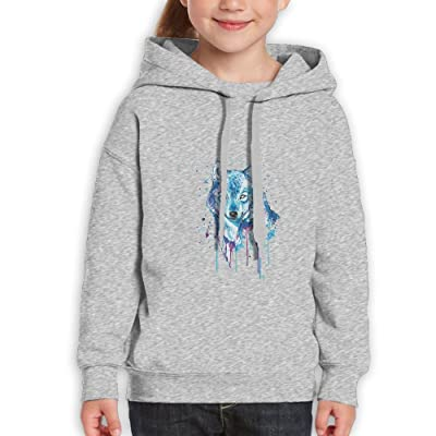 Yig45dsgr Youth Wolf Dreams Youth Pullover Hoodie Sweatshirt Ash X-Large