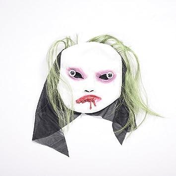 MIANJU Máscara de Fantasma de Halloween Máscara de Fantasma de Halloween Mascota de Látex Mascota de