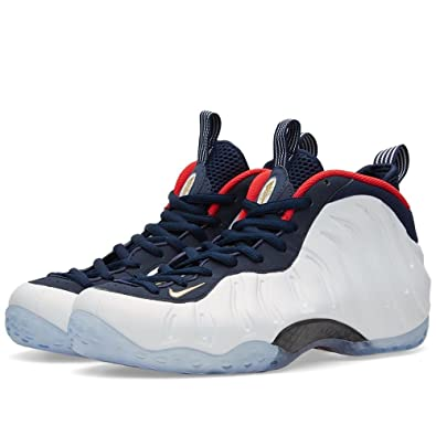 premium selection d9d26 26e01 Nike 575420-400 Men AIR Foamposite ONE PRM ObsidianWhite University RED