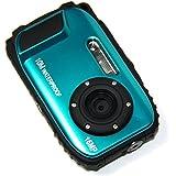 KINGEAR KG003 2.7 Inch LCD Cameras 16MP Digital Camera Underwater 10m Waterproof Camera+ 8x Zoom--Blue