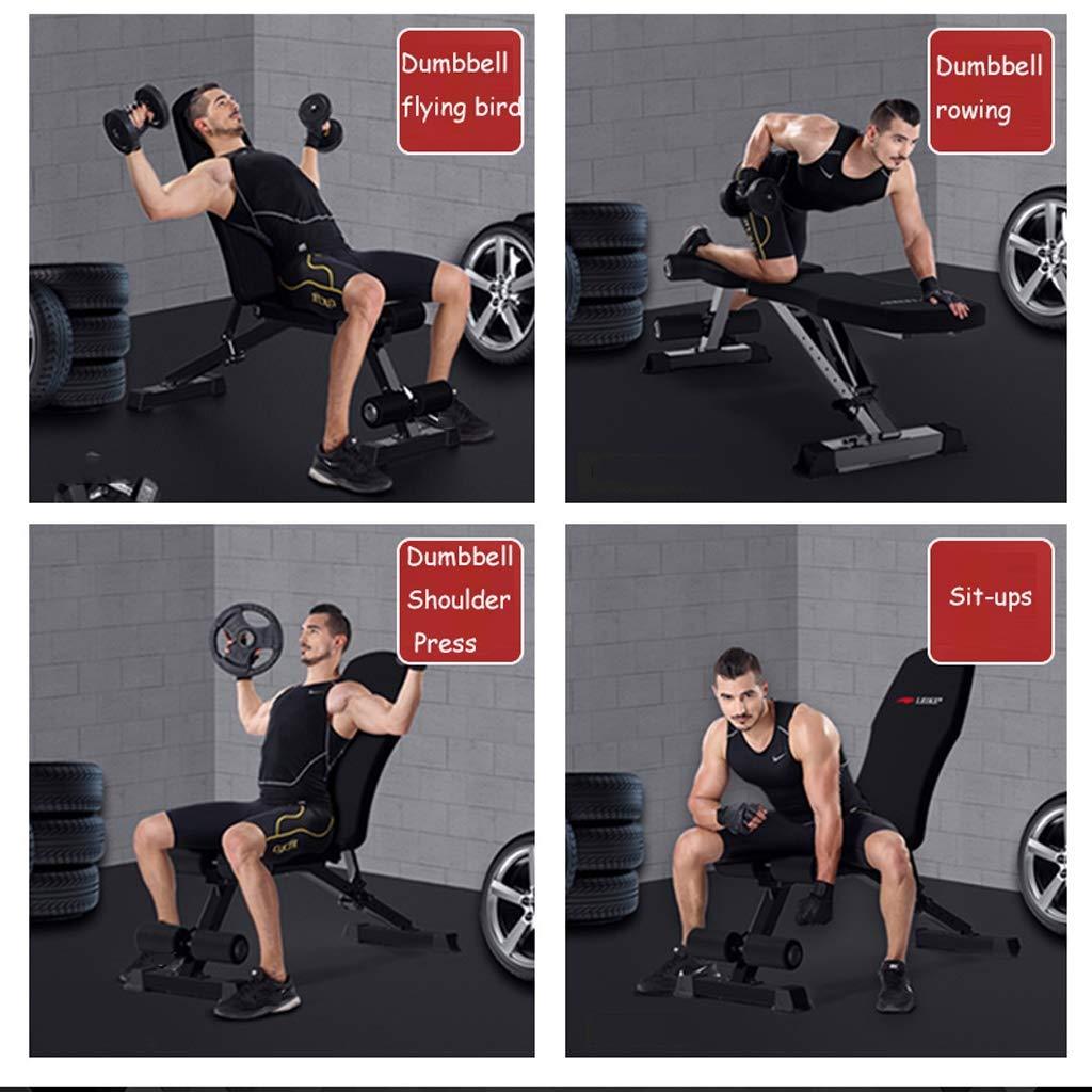 Tx- Banco con mancuernas profesional, sentarse banco de ejercicio de entrenamiento plegable de fitness banco de pesas para entrenamiento completo del cuerpo ...