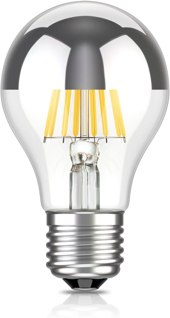 Lampadina a LED per attacco E27 Colore:/Testa specchio set di 12 dimmerabile con testa a specchio cromata