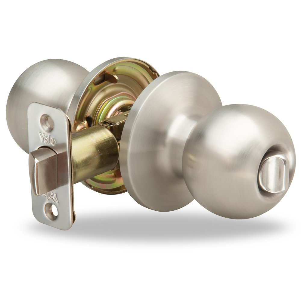 Yale Edge Athens Knob in Stainless Steel - Privacy