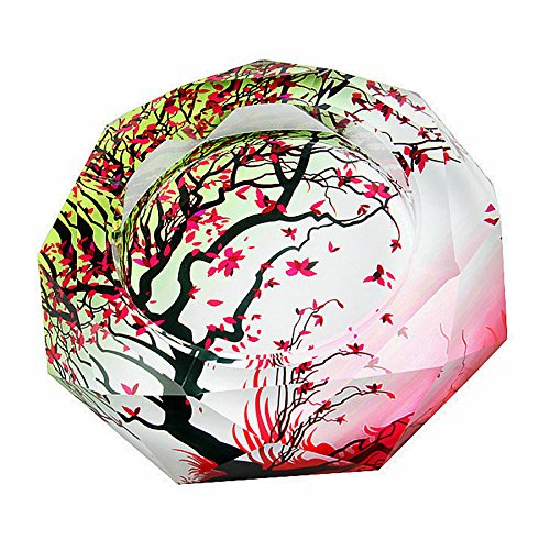 OSONA 高級 葉巻 灰皿 おしゃれ ガラス 卓上灰皿 アッシュトレイ 大容量 20cm B01IHHLOMK 20cm|レッド レッド 20cm