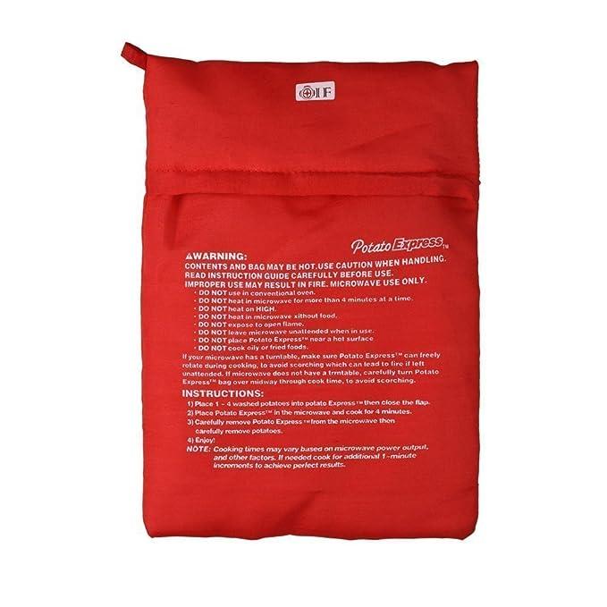 Bolsa lavable y reutilizable Uctop Store, 2 piezas para cocer patatas en microondas, tortillas en sólo 4 minutos