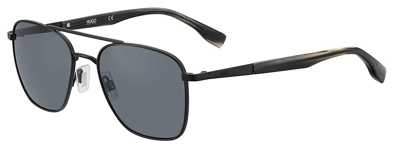 Hg 330 //S 0003 Matte Black//IR gray blue lens hug Sunglasses Hugo