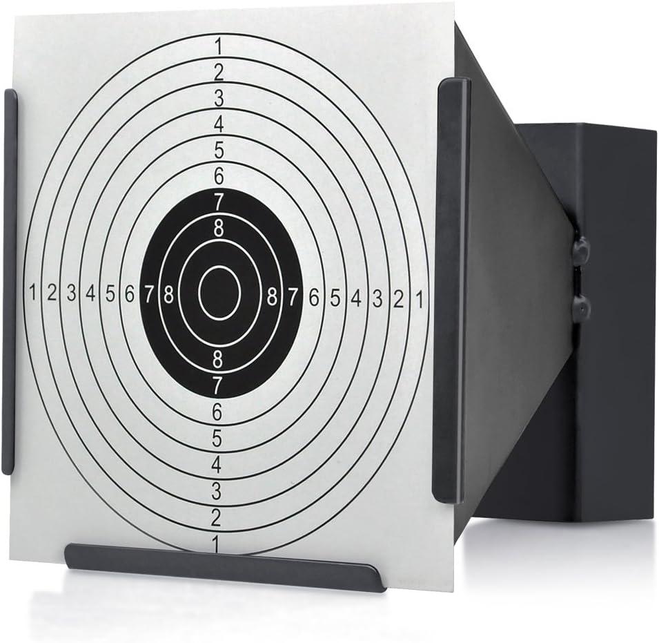 14 14cm Blanco Soporte + 100 Objetivos Rifle aire BALA Trampa TIRO AIRSOFT…