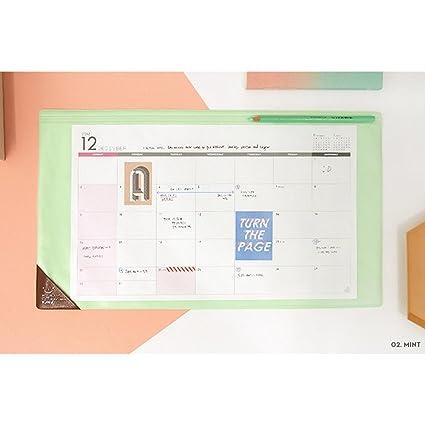 2018 (Mint) alfombrilla de escritorio planificador (M)/2018 ...