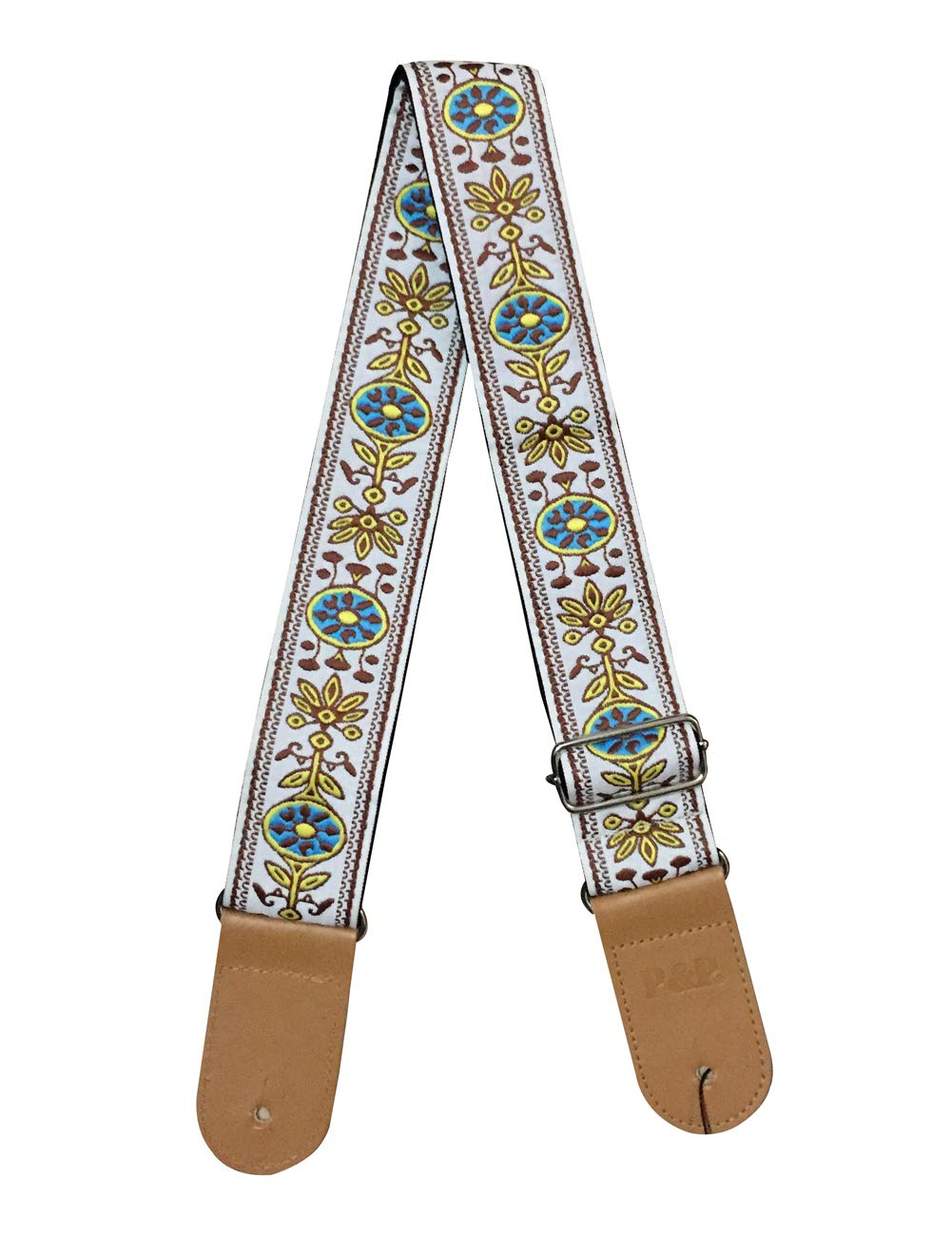 CLOUDMUSIC Guitar Strap Acoustic Electric Bass Jacquard Weave Vintage Classic Designs Gifted With Guitar Picks Strap Locks