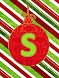 Cheap Caroline's Treasures CJ1039-S-GF Christmas Ornament Holiday Letter S Monogram Initial Flag, Small, Multicolor