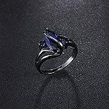 Sumanee Vintage Black Gold Crystal Women Ladies Oval Crossed Ring Finger Ring Zircon (8)