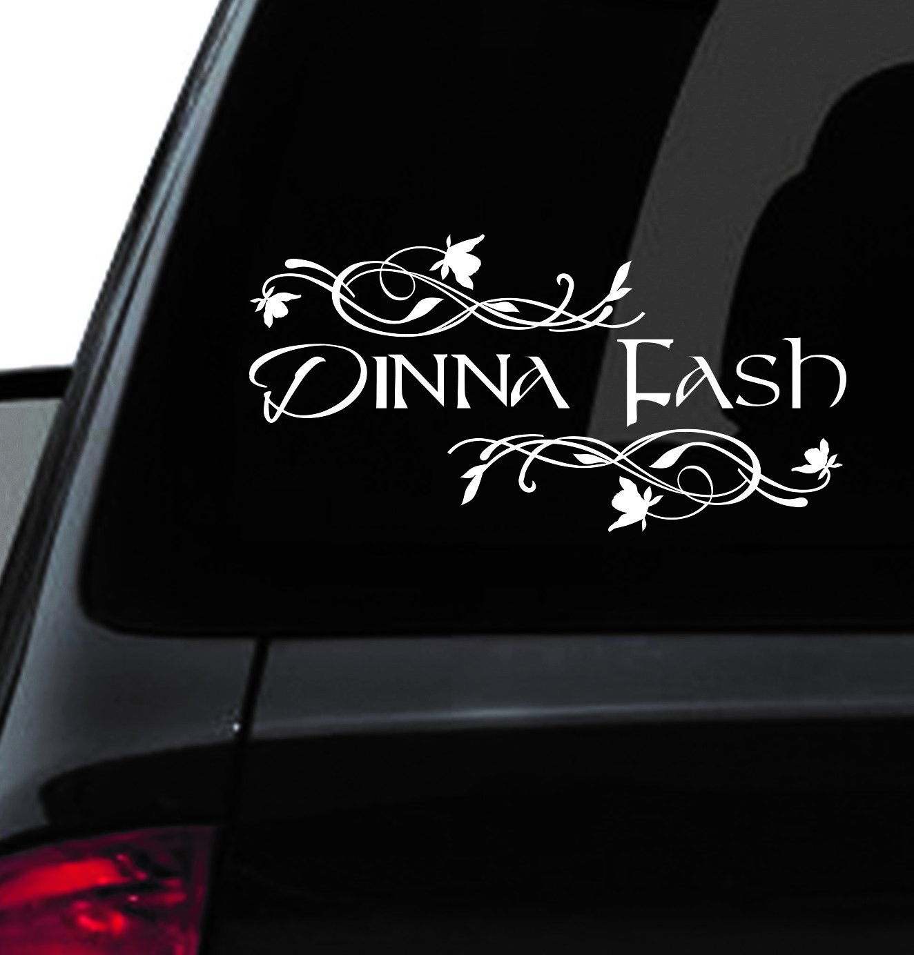 Amazoncom Custom Window Car Decal Dinna Fash Dinna Fash - Custom car window sticker
