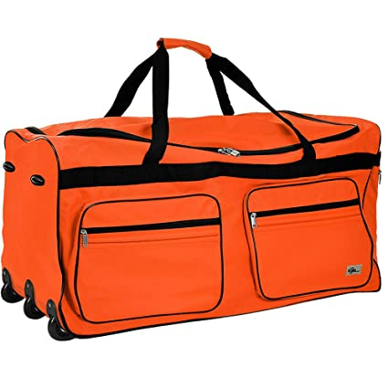 Travel Duffel Bag Size Colour Choice 160L Orange Wheeled Luggage Gym Sport  Large Lightweight Telescopic Handle  Amazon.co.uk  Kitchen   Home de8f245f01fb0