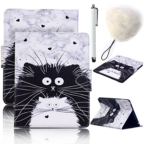Galaxy Tab A 10.1 Case,Vandot 3in1 Set Luxury Case Cover Magnetic Flip Folio Stand Wallet Case for Galaxy Tab A 10.1 SM-T580 T585 with Auto Sleep/Wake Feature+POMPOM+SCREEN STYLUS TOUCH PEN-CAT MIAO by VANDOT (Image #7)