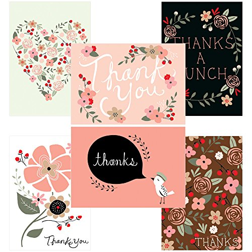 60 Postcards - Thank You Potpourri - 6 Different Images