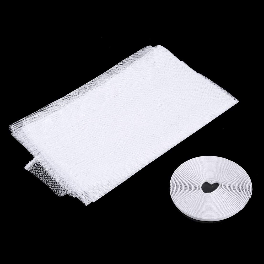 DF-ES 130x150cm Anti Mosquito Door Window Net Mesh Cloth Cortina Protector Flyscreen Door Screen Summer Style Mesh Net color: Blanco