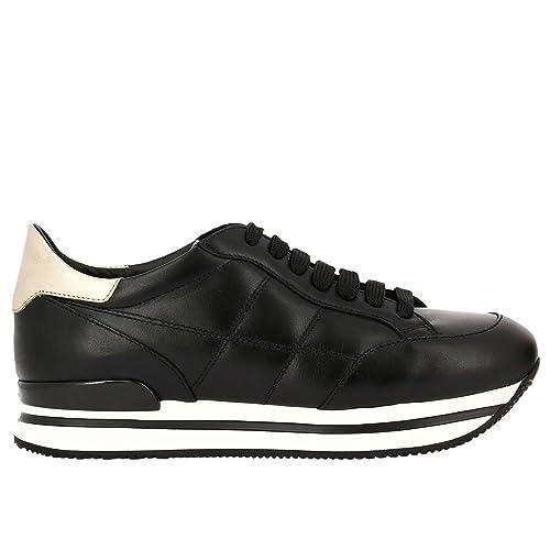 Hogan Mujer Hxw2220j060gga415h Negro Cuero Zapatillas: Amazon.es: Zapatos y complementos