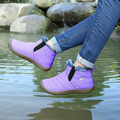 A Pantalones Running Botas Minetom Correr Cuñas Primavera Mujer Zapatillas Libre Purple En Aire Montaña Cierre Calentar Deportes Zapatos OanOgrq