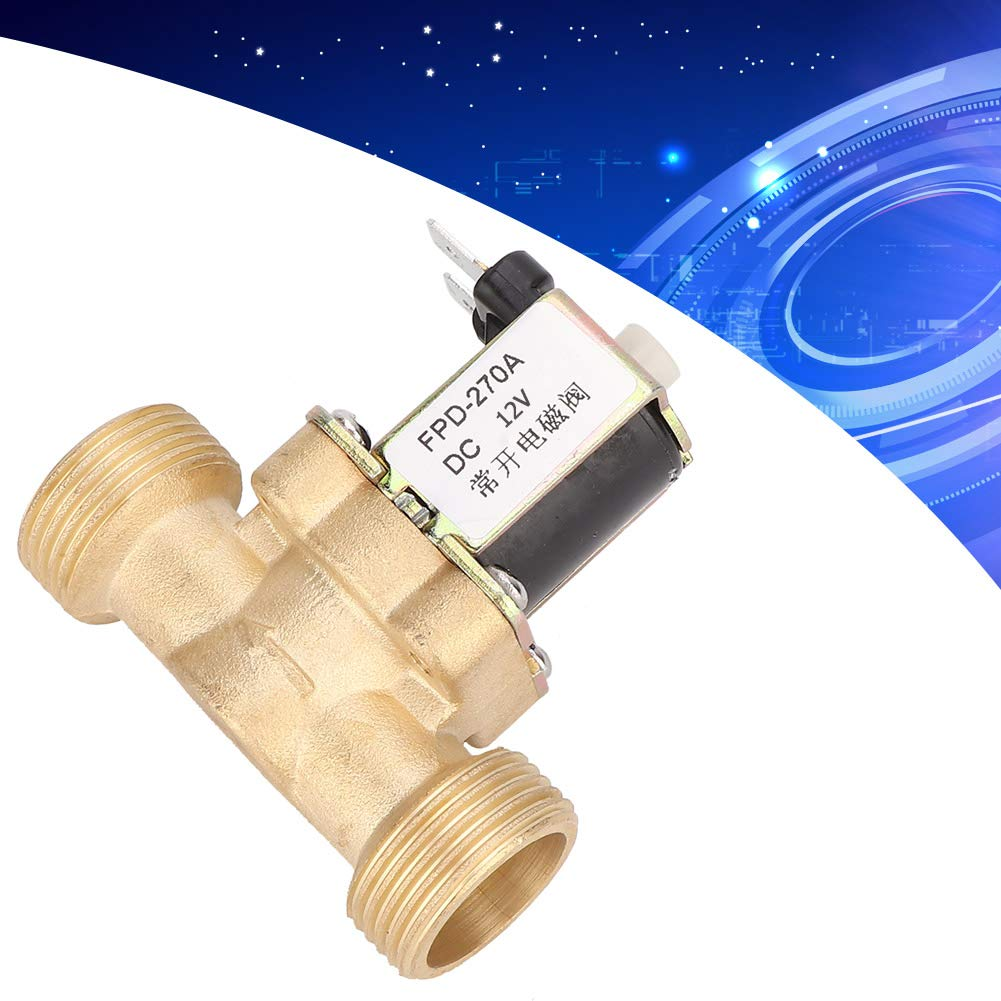 G3//4 Normally Open Brass Solenoid Electromagnetic Valve Water Inlet Switch Electric Solenoid Valve DC12V