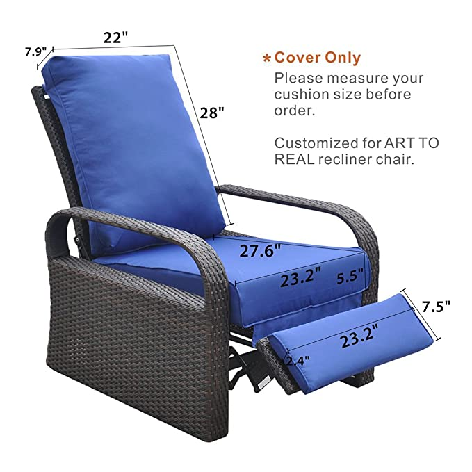 amazon com only cover outdoor recliner chair replacement cushion